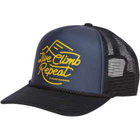 Black Diamond Flat Bill Trucker Hat carbon-sulphur